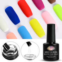 Cubre la capa superior mate Gel de Color puro esmalte de uñas Semi permanente UV empapa de Gel barniz 7ML capa de Base