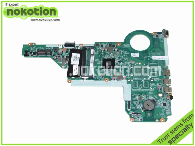 NOKOTION 731534-001 731534-501 For HP Pavilion 17Z-E100 17Z Laptop Motherboard A4-5000 CPU Onboard DDR3 DA0R76MB6D0