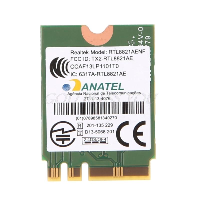 Двухдиапазонная Беспроводная комбинированная карта 2,4 + 5 ГГц 433M Bluetooth V4.0 NGFF M.2 Wifi WLAN 802.11ac для Realtek RTL8821AE