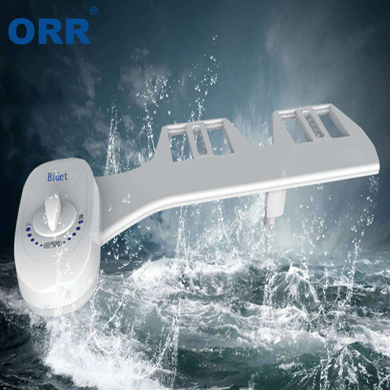Self Cleaning Nozzle Toilet Bidet Attachment Adjustable Fresh Water Non-Electric Mechanical Toilet washing tool ORR ef adjustable bellows focusing attachment black