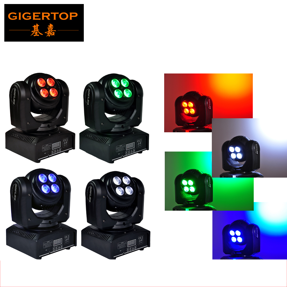Disco Dj Lights 4pcs/lot Two-sided led moving head light Both Side Wash Effect 8pcs*8W Tianxin Leds RGBW Y axis Endless rotation