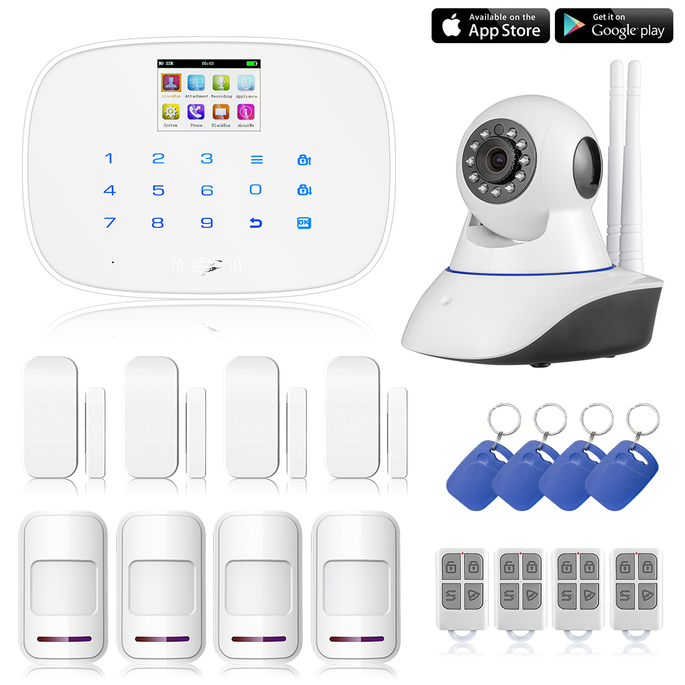 APP GSM G19 font b RFID b font Wireless Wired Home Burglar Alarm Intruder System wifi