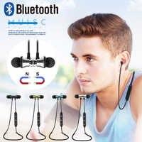 S8 Wireless Magnetic In-Ear Bluetooth Earphone XT 11 Bass Stereo Headset Sports Running Sweatproof with Mic