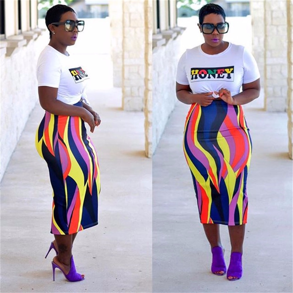 579e6541ea0 2018 Hot Sale Casual 2 Piece Set Woman Letter O Neck Short Sleeve T Shirt  And