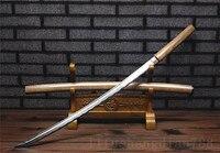 39 SHARP 1060 high carbon steel blade fake hamon full tang battle ready shirasaya can cut bamboo tree