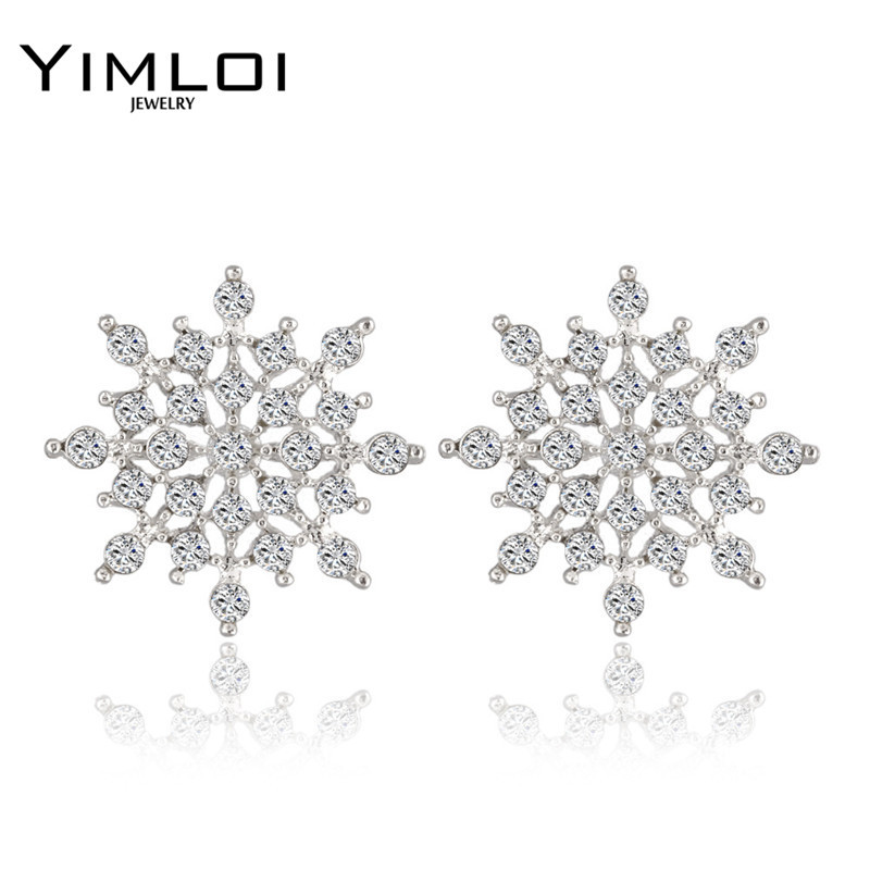₪2016 ¡ Nuevo!!! Ladies Crystal Copo de Nieve Declaración Bijoux ...