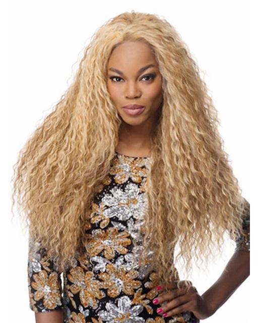 28 polegadas sexy resistente ao calor fibra sintética louro longo cabelo de milho, afro crespo peruca encaracolado para as mulheres negras com tampa de peruca livre