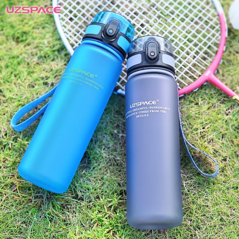 Kuća i bašta ... Kuhinja i trpezarija ... 32715465459 ... 5 ... UZSPACE Sport Water Bottle Protein Shaker Camping Hiking Drink Bottle for water 350/500/1000ml Tritan Plastic Drinkware BPA Free ...