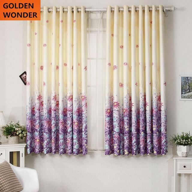 Fashion Mordern Fresh Short Curtains Finished Curtain Semi Shading Curtains  For Living Room Curtains Kids Rooms
