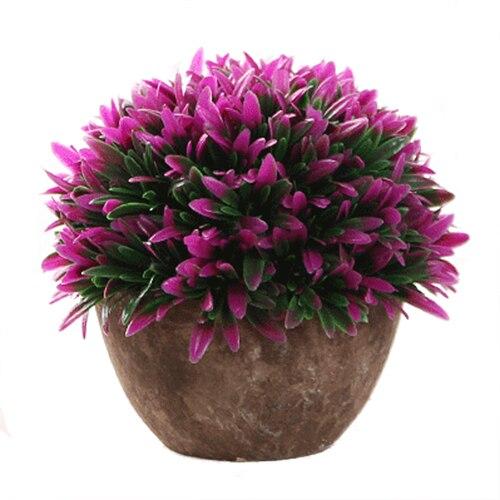 UESH-Plantas Artificiales Florero Conjunto Simulación Flor Bonsai - Para fiestas y celebraciones