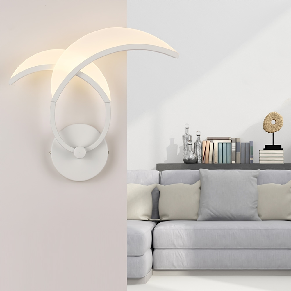 ФОТО Modern Moon Shape LED Wall Lamps for Livingroom Bedroom as Decoration Sconce Light Warm White/White Light Lamp lamparas de pared