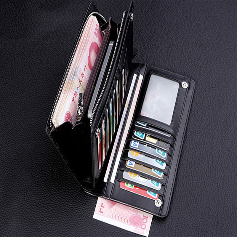 Luxury Fashion Gold Brand PU Leather Men Wallets Business Card ...