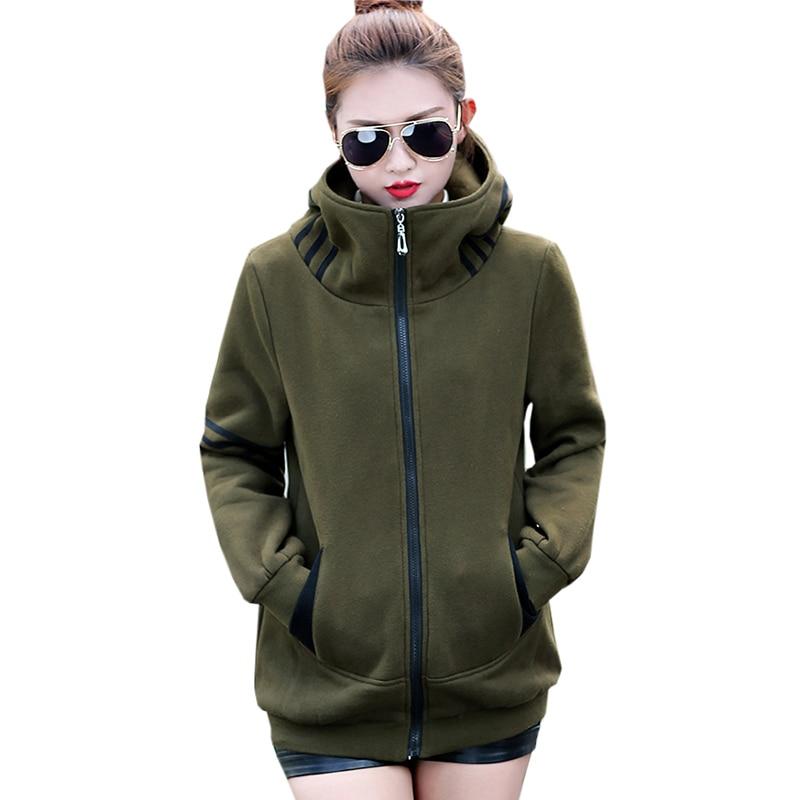 Plus Size Women Cotton Coats Casual Hooded Thicken Warm   Parkas   Autumn Winter Ladies Loose Oversize Cotton Jackets Tops FP1758
