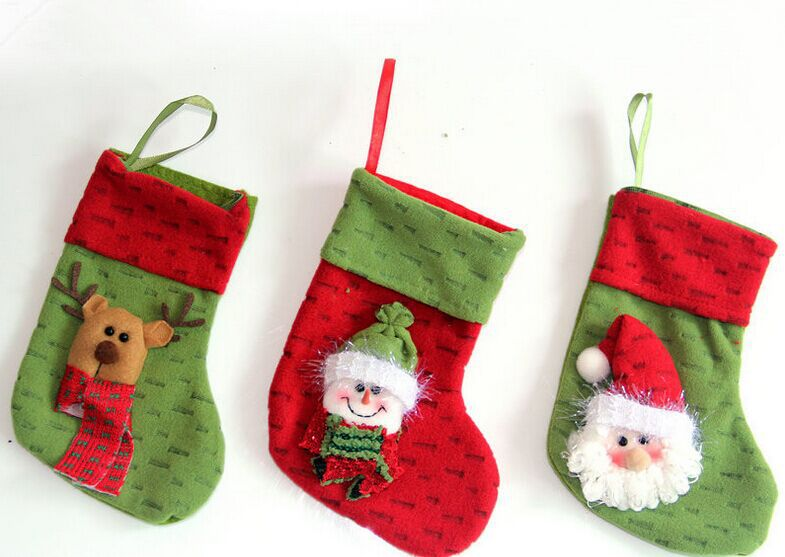 personalized christmas stockings kids gifts socks with stuffed 3d santa snowman deer design select decoration - Christmas Stockings For Kids