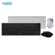 Original Rapoo 9060 font b Keyboard b font and Mouse Set Ultra Thin 2 4G Wireless