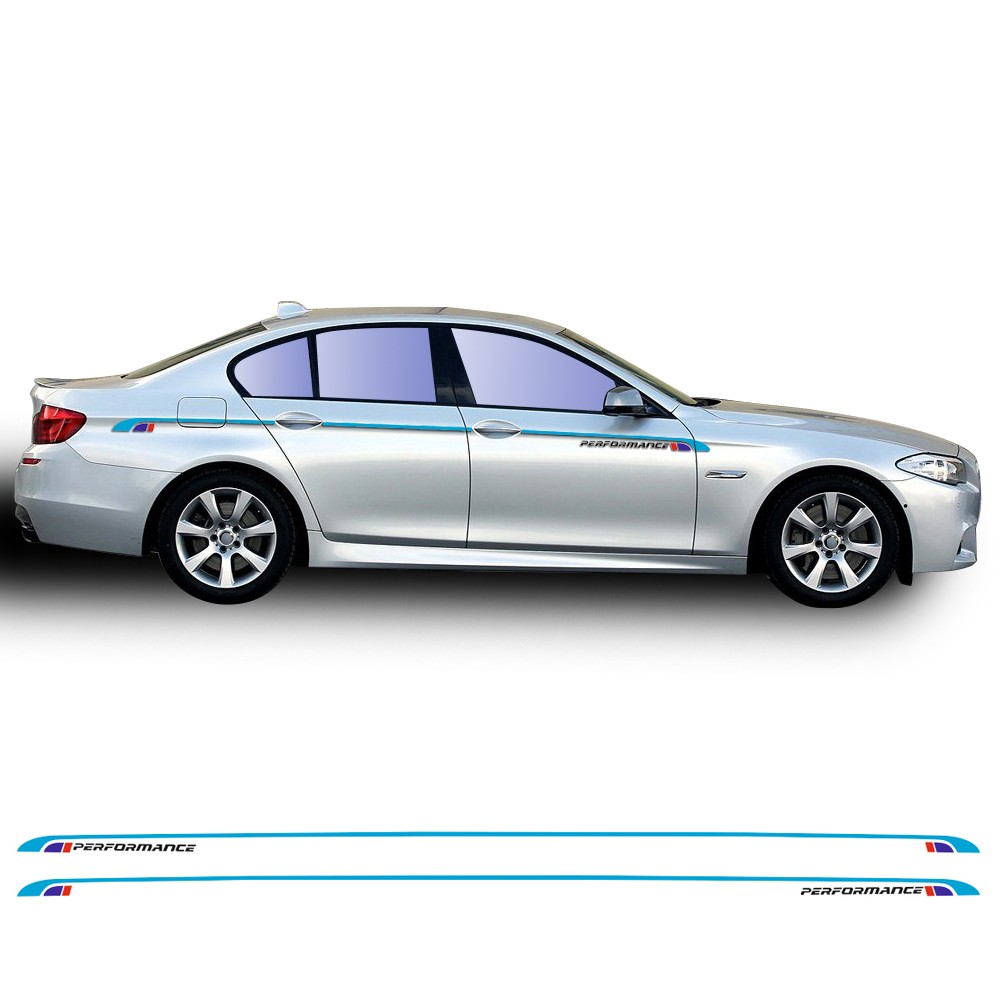 Car Styling M5 Performance Side Stripe Waist Line Body Decal Sticker for BMW 5 Series F10 F11 F07 E60 E61 520i 530i Accessories