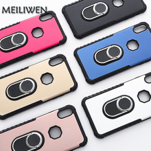 Silica Gel Metal Ring phone case for the iPhone X XS XR XsMax 8 7Plus 6 6S Plus Back Cover For iphone 7  6s