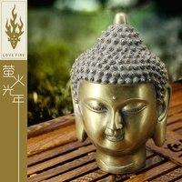 China's ancient fine brass Buddha head