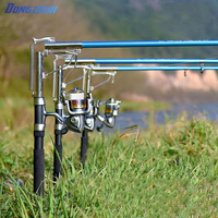 stainless steel automatic fishing rod mount spring sensitive telescopic high quality sea river lake holder stand machine