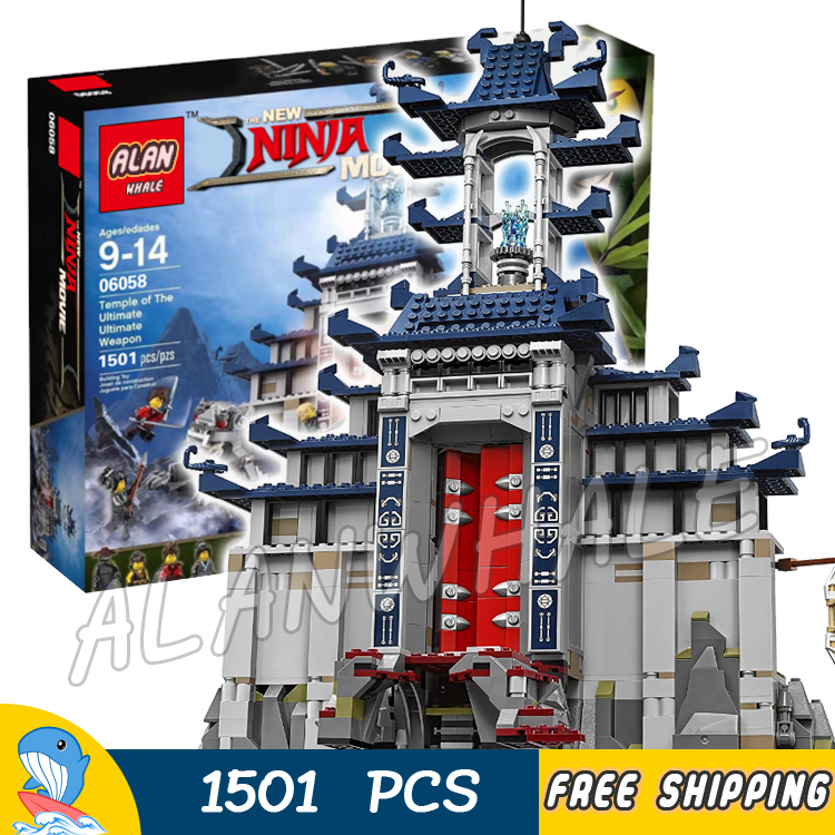 1501pcs New Ninja Ancient Temple Battle Ultimate Weapon 10722 Model Building Blocks Children Toys Bricks Compatible With lego ninja temple model building blocks 06022 2150pcs assembly block toys for children ninja figure bricks compatible with legoinglys