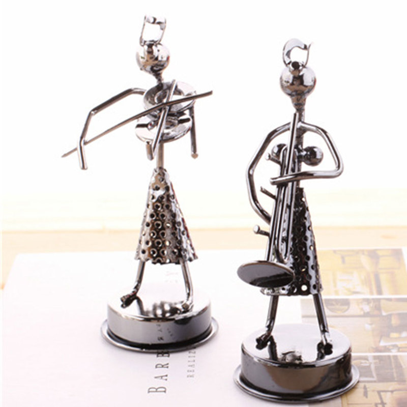 Creative Bedroom Band Modeling Statues Sculptures Iron Man Woman Model Sculpture Figurines Office Home Decoration Table Ornament