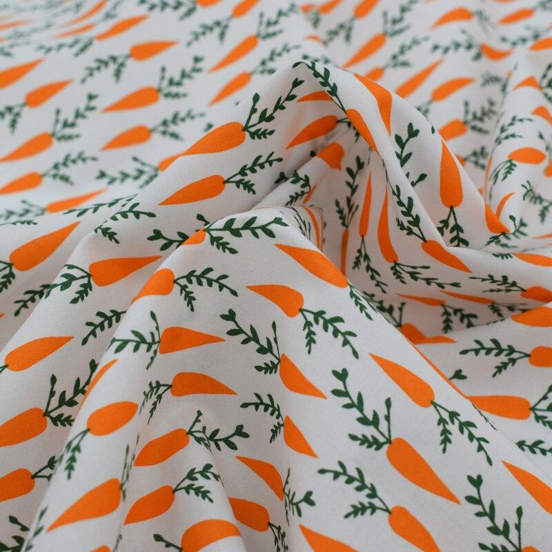 2018 nova Laranja cenoura reativa tingimento natural tecido de algodão para o verão vestido telas por metros au tissu metro de tecido vestido DIY