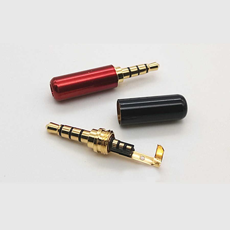 2 szt. Miedź 3/4 polak 3.5mm wtyk męski wtyczka słuchawkowa z klipsem 3.5mm złącze audio Stereo dla 4mm adapter do kabla