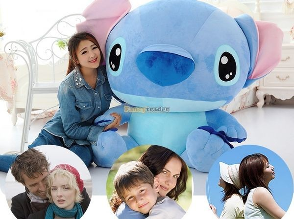 Fancytrader 47\'\' 120cm Biggest Huge Giant Stuffed Soft Plush Stitch, 2 Colors, Free Shipping FT50407 (9)