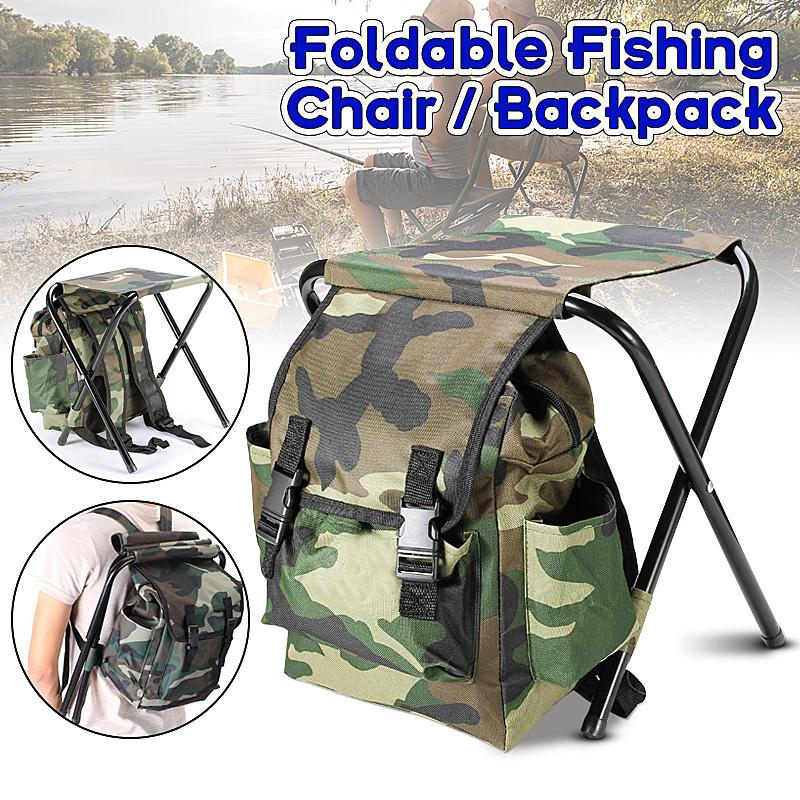 Jeebel Foldable Fishing Chair Backpack Portable Equipment Fishing Bag Folding Beach Picnic Tourist Seat Furniture Hiking