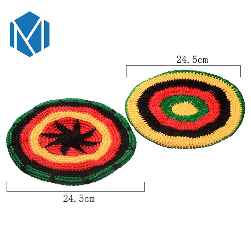 Miya-Mona-Men-s-Winter-Hat-Wig-Braid-Jamaican-Bob-Marley-Rasta-Multicolor-Headwear-Striped-Cappello