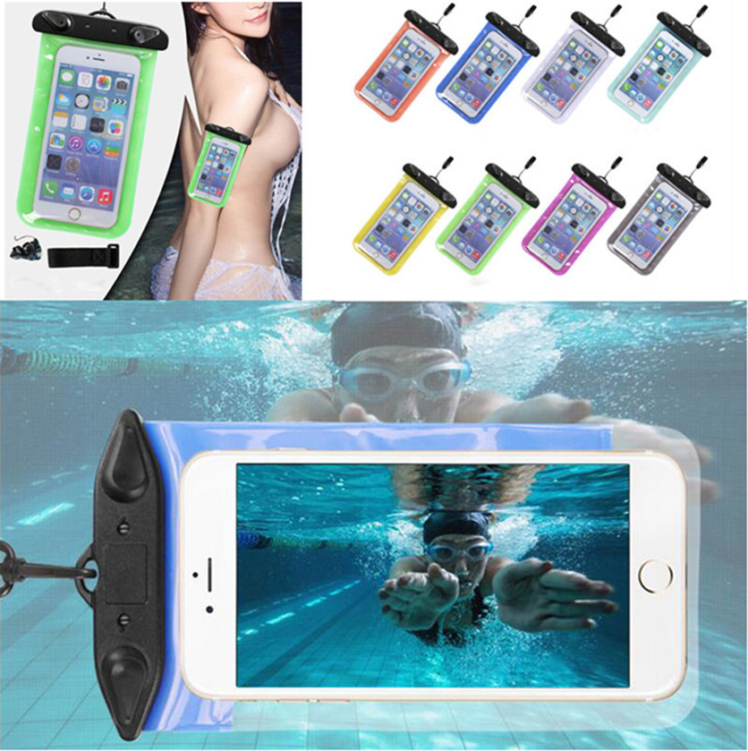 Universal Waterproof Swim Diving Case Pouch Bag For Alcatel POP3 5.5