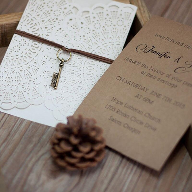 Floral Wedding Card Manufacturer From Hosur: Aliexpress.com : Buy 50 Sets Design Flower Lace White