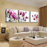 Canvas Print Painting Pictures For Kitchen Modular Picture Posters Room Decor Art Orchid Modern Flowers 3 Panel Wall Art Poster