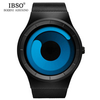 IBSO 2017 Mens Watches Brand Luxury Stainless Steel Mesh Strap Sport Watch Men Waterproof Quartz Wristwatch