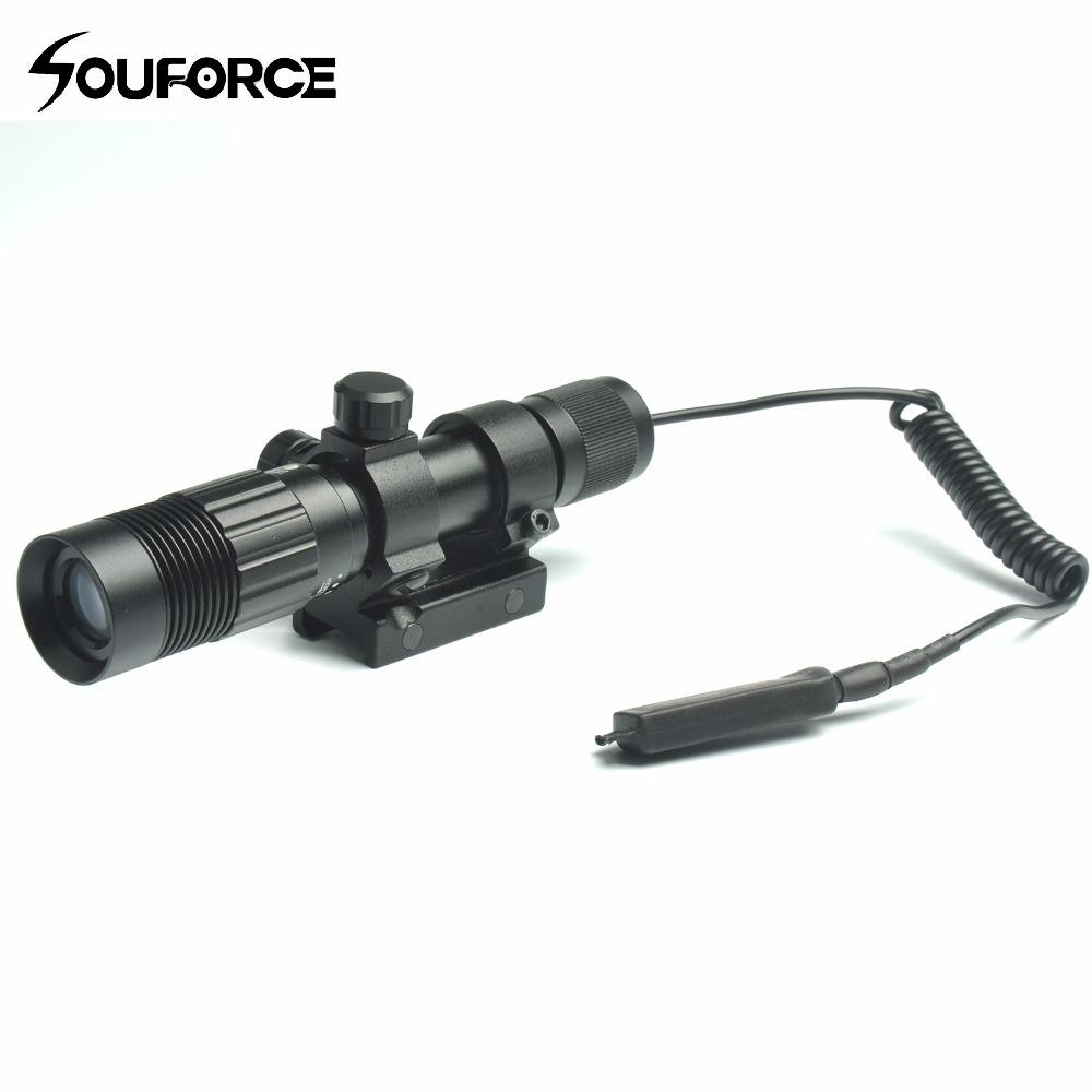Tactical Adjustable Green Dot Laser Sight Designator Illuminator Flashlight Fit for 20mm Rail Mount for Hunting Rifle