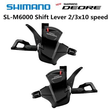 SHIMANO Deore SL M6000 RAPIDFIRE Plus dźwignia zmiany biegów M6000 dźwignia zmiany biegów 10-biegowa 3 #215 10 2 #215 10 prędkości M6000 przerzutki M610 przesunięcie tanie i dobre opinie Shift Lever SL-M6000 STEEL
