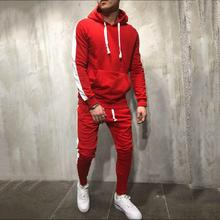 2019 Autumn Winter Running Set Men Sport Suits Hoodies Pants Sets Sweatshirt + Track Pants Sportswear Gym Fitness Tracksuit Male 925 silver jewelry ring pure zircon ring female models s925 sterling silver rings costume jewelry india citrine opal brand