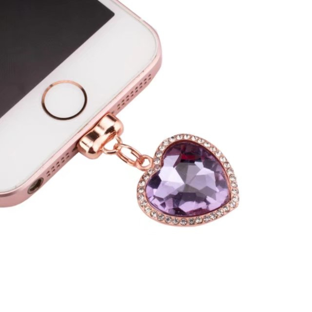 half off 3a2fa 7506f US $3.99  Special Design Luxury Date Charging port Rhinestone Anti Dust  Plug for apple iphone 5 s se 7 6 6s 7 plus Phone Strap Accessories-in Dust  ...