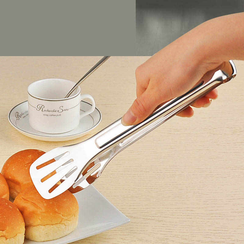 Stainless Steel Food Tongs bbq Kitchen Utensils Buffet Cooking Tools Anti Heat Bread Clip Pastry Clamp Barbecue Kitchen Tongs
