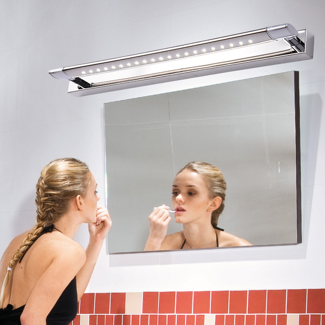 Bath mirror light fixtures led light bathroom light makeup lights bath mirror light fixtures led light bathroom light makeup lights snapped stainless steel led lighting mozeypictures