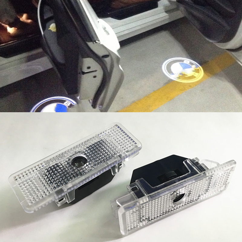 2X No Drilling Car Door Courtesy Laser Projector Logo Ghost Shadow Light For BMW E39 X5 E53 E52