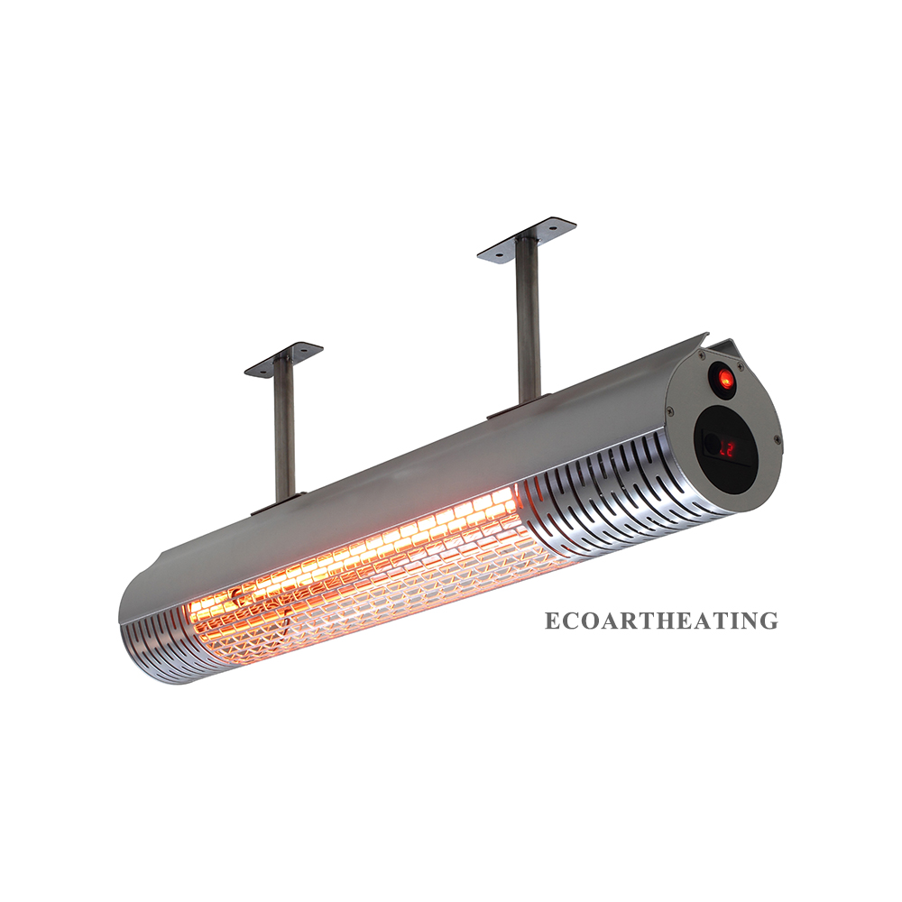 Outdoor Infrared Patio Heater 2000W Ceiling Mounted Electric Strip Heater 2 Power Setting