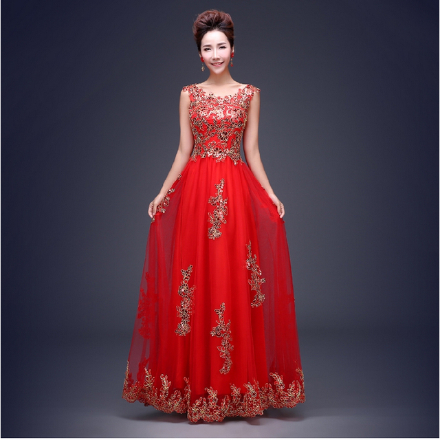 8d8605481d9 women lace applique tulle red carpet glamorous evening ball gown long  elegant ball gowns red bridal