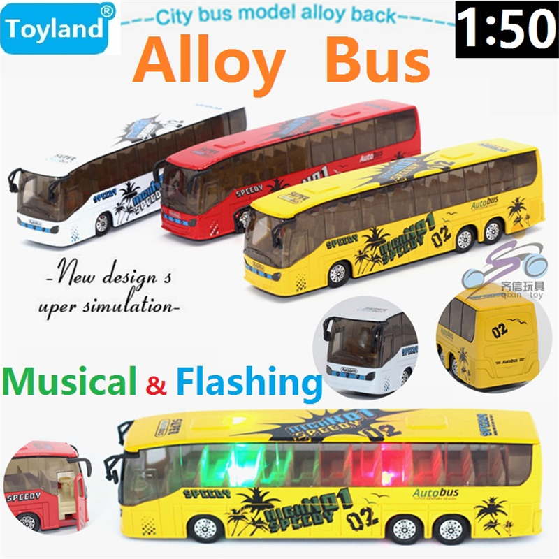New! New Listing The City Bus 1:50 Alloy Pull Back/Flashing ...