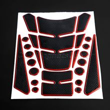 Mtsooning Motorcycle Universal Fuel Tank Pad Protector Sticker Decal 3D Dots Carbon Fiber Gel for Suzuki Kawasaki Honda Yamaha