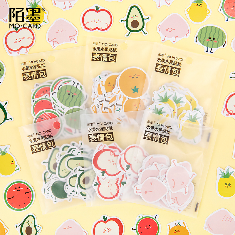 Cute Fruit Expressions Series Bullet Journal Decorative Washi Stickers Scrapbooking Stick Label Diary Stationery Album Stickers