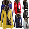 Free Shipping 2015 New Fashion Hoodies Casual Ladies Winter Coat Warm Thick Zipper Outerwear Long Jacket Women Clothing 5027