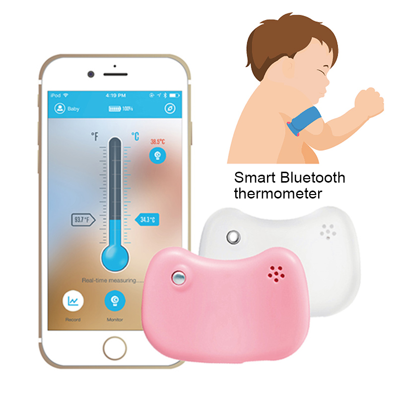 New Bluetooth Remote Children Wearable Electronic Thermometer Smart Body Infant Temperature Monitoring