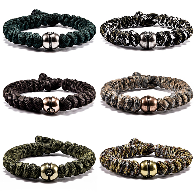 Steampunk Paracord Bracelet Braided Outdoor Hiking Survival Men Jewelry Male Accessories Pulseira Masculina