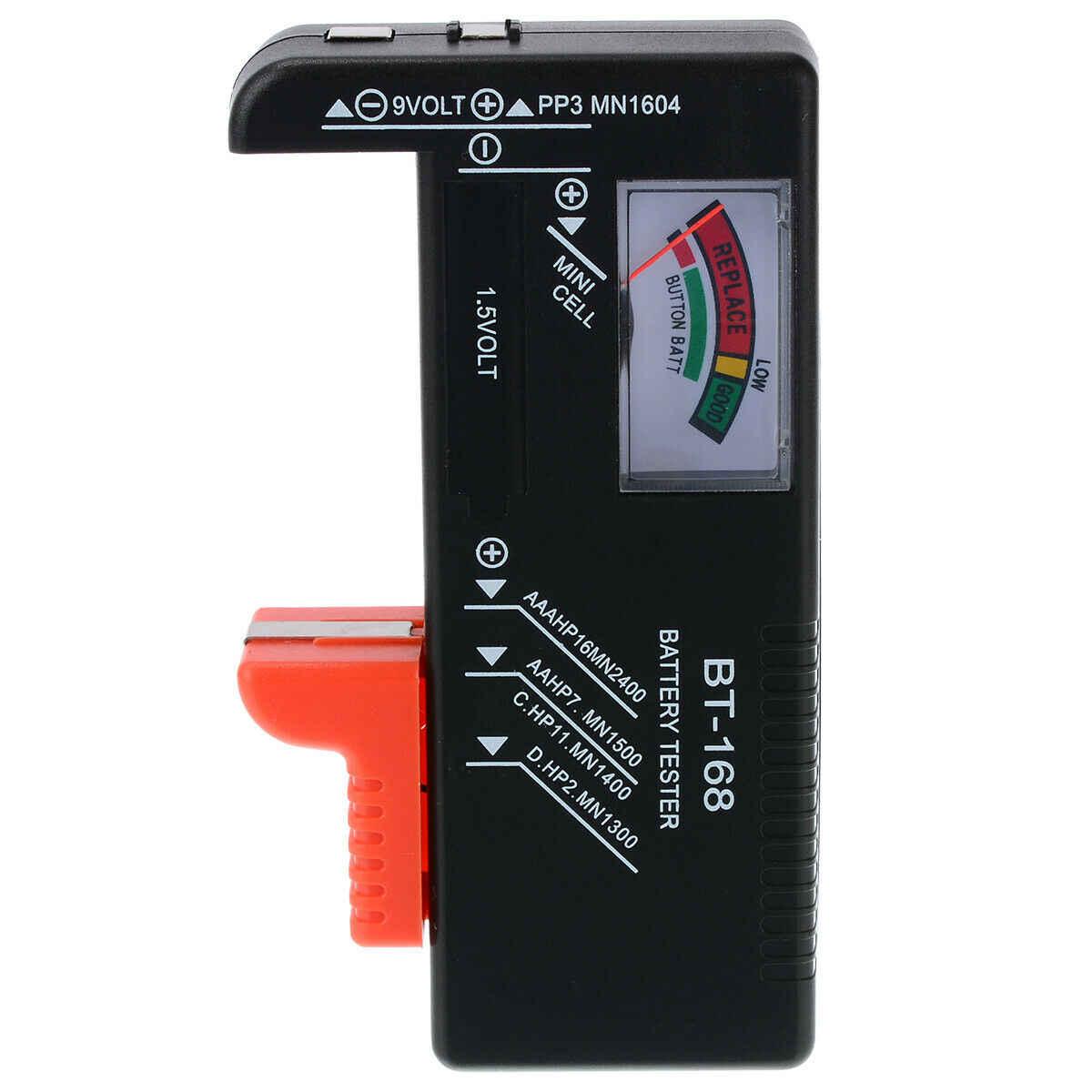 دائم العالمي الرقمية LCD AA/AAA/C/D/9 V/1.5 V زر خلية البطارية فولت اختبار قدرة مدقق رصد BT-168 اكسسوارات